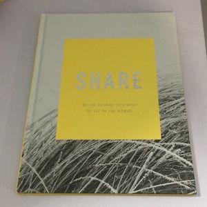 Share. An inspirational book.
